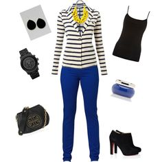 cobalt jeans and yellow :)