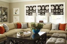 ml interior designs roman shades – Family Room İdeas 2020 Furniture, Interior, Home, Roman Shades, Sectional, Living Room Grey, Interior Design, Family Room Sectional, Residential Interior