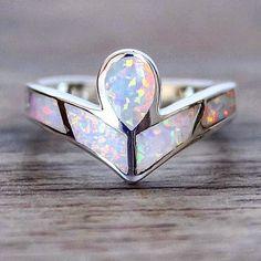Angel Opal Ring   Bohemian Mermaid Jewelry