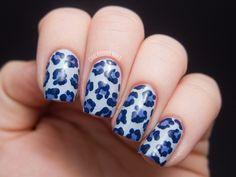 Denim Leopard (+ Video Tutorial) | Chalkboard Nails | Nail Art Blog