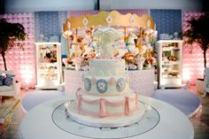 festa carrossel de bonecas, festa meninas, dolls party, girls party, candy color, festa infantil, mesa de doces