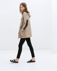 Image 1 of PARKA WITH DETACHABLE LINING from Zara