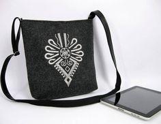 SUMMER SALE, felt crossbody bag,   Women felt bag, , Felt shoulder bag, Embroidery by BPStudioDesign on Etsy