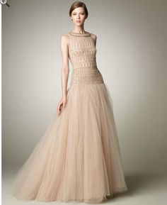 Valentino. Tulle Illusion Ball Gown.