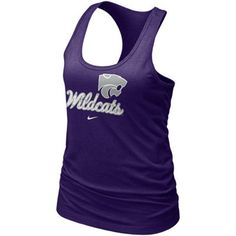 Shop Kansas State Wildcats women's apparel and clothing at Fanatics. Ladies, gear up with Kansas State Wildcats women's jerseys, shirts and clothing from top brands at Fanatics today. Kansas State University, Kansas State Wildcats, Kansas Jayhawks, Purple T Shirts, Racerback Tank Top, My Outfit, Athletic Tank Tops, T Shirts For Women, Fashion Outfits