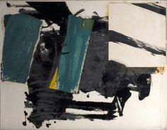 Franz Kline  Oil, collage