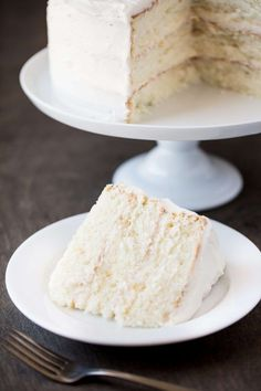 The Most Amazing White Cake is here! It's light, and airy, and absolutely go… The Most Amazing White Cake is here! It's light, and airy, and absolutely gorgeous. This is the white cake you've been dreaming of! Cupcakes, Cake Mix Cookies, Cupcake Cakes, Cake Pops, Best Cake Recipes, Dessert Recipes, White Cake Recipes, Bakery White Cake Recipe, Vanilla Cake Recipes