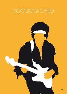 Kunstwerk: MY Jimi Hendrix Minimal Music poster' van Chungkong Art Blues, Voodoo, Jimi Hendrix Poster, Rockabilly, Historia Do Rock, Minimalist Music, Jazz Poster, Gig Poster, Poster Prints