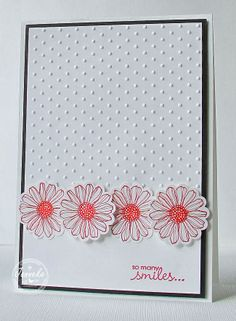 Janneke, Stampin' Up! Demonstrator --use this idea with butterfly stamps and punch or Christmas stamps and punch