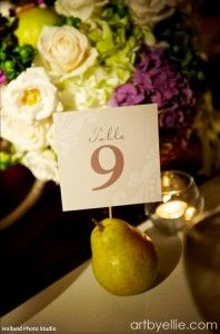 why do i like these fruit table numbers and name cards