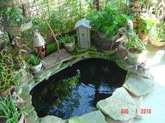 Pond inside our corn crib gazebo