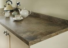 Natural Stone Tan Square Edged Worktop and Upstand