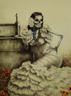 Discovered by AnaGaby L. Find images and videos about la catrina on We Heart It - the app to get lost in what you love. Art Chicano, Catrina Tattoo, Sugar Skull Art, Sugar Skulls, Spider Tattoo, Day Of The Dead Art, Memento Mori, Mexican Folk Art, Mexican Chola