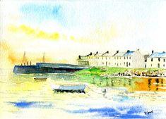 Port Charlotte Village Islay Whisky by Scottish artist David Tyrrell  | eBay