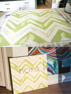 how to make a vintage chevron sign | the handmade home