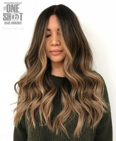"859 Likes, 20 Comments - Winnipeg Hairstylist (@hairbyamberjoy) on Instagram: ""Balayage'd Beauty ✨ #hairbyamberjoy Entry for @behindthechair_com #oneshotawards #behindthechair…"""