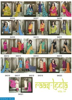 RAASLEELA-14 EXPORT COTTON JACQUARD DRESS MATERIAL Catalog pieces: 16 Full Catalog Price: 7984 Price Per piece: 499 MOQ: Full catalog Shipping Time: 4-5 days Sizes: Material fabrics Detail Top :- cotton jacquard  Bottom :- cotton Dupatta :- nazmin heavy Wo #nicecollection  #goodmateriel  #awesomelook Call&Whatsapp;+917405434651 website link :-http://textiledeal.in/wholesale-product/4617/Raasleela-14-Export-cotton-jacquard-Dress-material