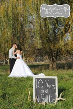 Anniversary-cute idea for couples to celebrate. Could do this every year for each anniversary to see the life changes over time.