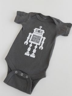 Robot Baby Onesie  SciFi Screen Printed by countercouturedesign, $18.00