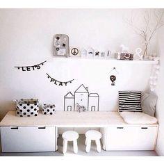 Ikea hack: Stuva desk credit: @huisnummer8 #kids #kidsroom #kidsdesk #ikea…