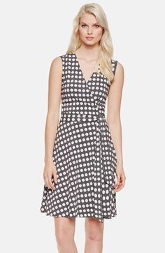 I purchased this Vince Camuto Dot Print Wrap Dress at Nordstrom a few weeks back, and I just LOVE IT!!!  Great with heels for date night, or throw on a short sleeve jacket for work.