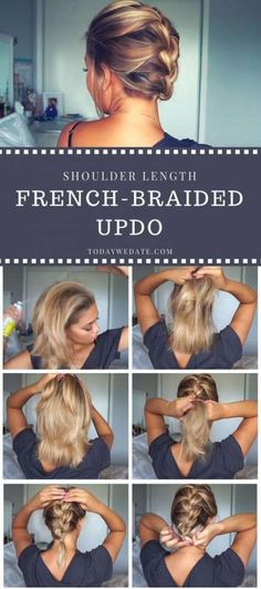 3 Super Easy Shoulder-length Hairstyles That Will Upgrade Your Date Night Look In Less Than 5 Minutes hairstyles/date night hairstyles/first date hairstyles/ pony tails/braided hairstyle/ hairstyles for medium length hair/hairstyles for short hair/hai Hairstyles For Medium Length Hair Easy, Medium Thin Hair, Medium Hair Styles, Curly Hair Styles, Medium Length Hair Braids, Short Hair Styles Thin, Braided Hairstyles For Short Hair, Updos For Medium Length Hair Tutorial, Up Dos For Medium Hair