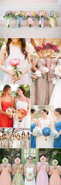 Stunning floral posies for your bridesmaids on GS Inspiration - Glitzy Secrets