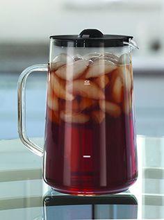 cool Capresso Ice Tea Glass Pitcher, 80 oz. (2.5 Qt.)