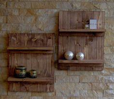(1) 2 Stück Holz Wandregale Deko Shabby Look alt antik-look used-look Wanddeko | eBay