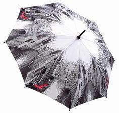 Black & White with Red Venice Scene Umbrella