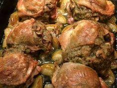 Töltött csirkecomb recept lépés 7 foto Sprouts, Pork, Turkey, Meat, Chicken, Vegetables, Recipes, Crafts, Kale Stir Fry