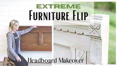 Headboard Makeover ~ Furniture Flip ~ DIY Bench ~ Bed Makeover ~ Headboa...