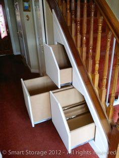 Photo Gallery, Under Stairs Storage, Attic Storage Examples  smartstorage.ie - WE NEED THIS SO BAD!