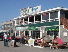To George's of Galilee and have clamcakes, chowda, steamers & beer on the deck! ... I want Summer!