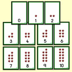 Ladybird Number Shapes 0 to 10