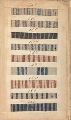 This sample book was a marketing tool; it contains swatches of fabric made by the Manchester manufacturing firm of Benjamin and John Bower. The samples on this page are woven with a very fine cotton warp and single, silk weft