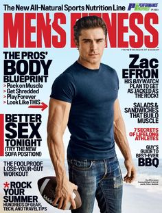 Zac Efron Is Hotter Than Ever in 'Men's Fitness' Magazine, Jokes He's 'Still That F**king Kid From High School Musical' - chrySSa fitnes Fitness Man, Fitness Diet, Fitness Goals, High School Musical, Rachel Mcadams, Zac Efron 2016, Dwayne Johnson, Zac Efron Baywatch, Kylie Jenner