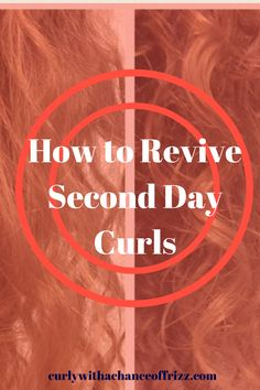 Are you a curly girl who likes to have nice curls on the second day? Here is a curly hair fix recipe to revive those second day curls!