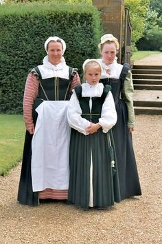 people wearing tudor costumes