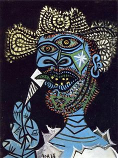 Hombre con sombrero de paja y helado Protocubismo Arte Gráfica 875d69a51fb