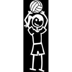 Volleyball Setter Decal