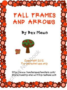 $1 Fall themed frames and arrows, one rule practice, great for Everyday math second grade