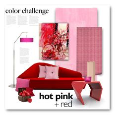 """Color Challenge: Red and Pink"" by bliznec ❤ liked on Polyvore featuring interior, interiors, interior design, home, home decor, interior decorating, Designers Guild, Verlaine, Giclee Glow and Emerson"