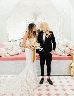 Moroccan Desert Meets Modern Palm Springs at the Sands Hotel & Spa - Green Wedding Shoes Boho Wedding Dress, Wedding Shoot, Wedding Attire, Wedding Dresses, Wedding Ideas, Lgbt Wedding, Edgy Wedding, Wedding Bride, Wedding Stuff
