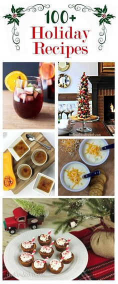 From appetizers and soups, to drinks and desserts, if you are having people over, celebrating the holidays or just staying at home and want to indulge in the flavors of the season, this collection of holiday recipes and food ideas is great!