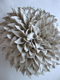 Corton Olympic Dahlia Wall Sculpture no.8 by DillyPad on Etsy