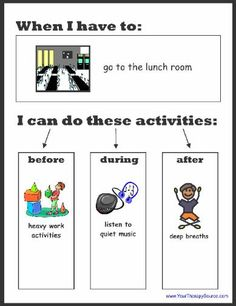 Sensory Preference Fill In Worksheet
