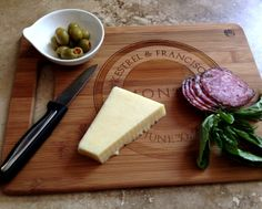 """Personalized Bamboo Cutting Board 11"""" x 8.5"""", Custom Engraved: Wedding, Housewarming, Mother's Day, Anniversary"""
