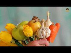Сделано в Кузбассе: Создание букета из овощей и фруктов - YouTube