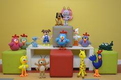 molde turma da galinha pintadinha em feltro - Pesquisa Google